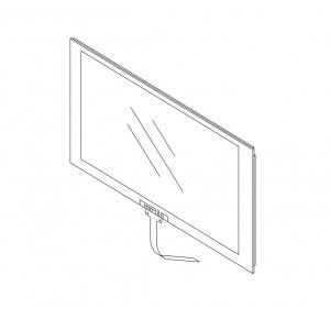 Kenwood DDX-4017DAB DDX4017DAB DDX 4017DAB Front Touch Glass  Screen Panel Assy Genuine
